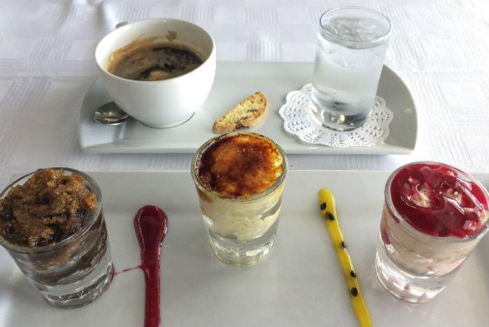 Para sobremesa, versões sul-africanas do crème brûlée
