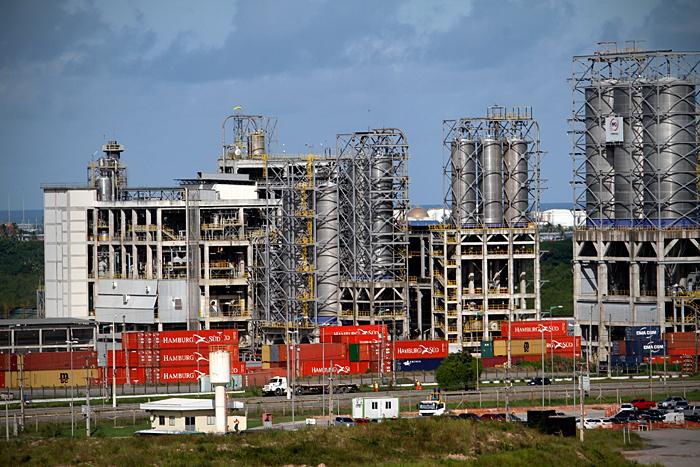 Complexo PQS, que inclui a PetroquímicaSuape e Citepe- Foto: Fernando da Hora/JC Imagem